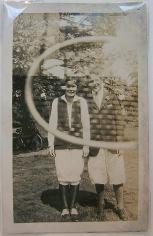 Tennis Racket (Double Exposure), 1923, 2 3/4 x 4 7/16 in.