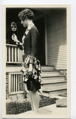 In the Mirror, 1930s, 2 10/16 x 4 7/16 in.