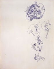 Jackson Pollock, Untitled, pen and blue ink on paper, 13 1/2 x 10 3/8 in. CR#598