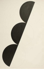 Untitled, 1968, paint and graphite on textured paper, 40 1/4 x 24 3/4 in.