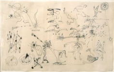 Untitled, c. 1942, pencil on paper, 11 3/4 x 18 3/4 in.  CR 649