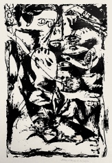 "Untitled (After CR#340), 1951, screenprint, ed. 16/25, 29 x 23 in., CR#1093 (P29), signed and dated with edition number ""25/16"""