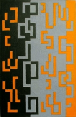 Grey-Yellow-Black Exchange, 1946, oil on canvas, 23 x 15 in.