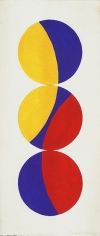 Untitled, 1968, acrylic and graphite on paper, 19 8 3/8 in.