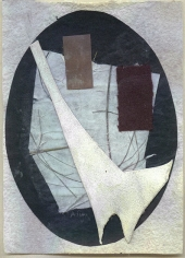 Untitled (no. 184), c. 1948-54, collage, 5 x 3 3/4 in.