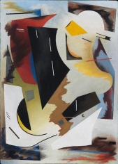 Colorstructive Abstraction, 1944, oil on masonite, 28 x 20 in. by Alice Trumbull Mason