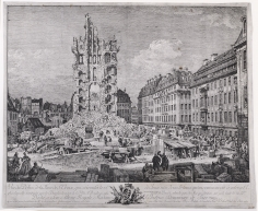 Bernardo Bellotto, The Ruins of the Old Kreuzkirche, Dresden