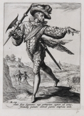 Jacob de Gheyn II (1565-1629)  A Sergeant from the Officers and Soldiers of the Bodyguard of Emperor Rudolph II, ca. 1587