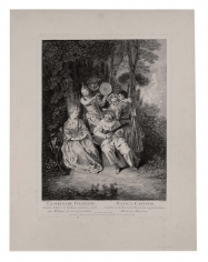 Gérard Jean-Baptiste Scotin (1698-after 1755)  La Serenade Italienne