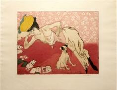 Jacques Villon, Les Cartes (Cards: The Game of Solitaire)