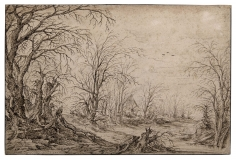 Flemish School,  A Wooded Landscape with Houses