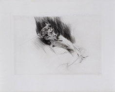 Giovanni Boldini, Whistler Asleep upon a Sofa
