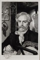 Felix Bracquemond,  Edmond de Goncourt, 1882