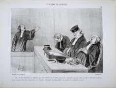 Honoré Daumier,  Oui, on veut dépouiller cet orphelin, 1845