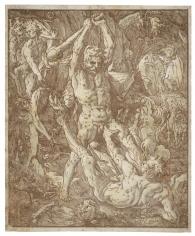 Hendrick Goltzius, Hercules and Caucus