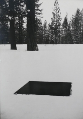Snowy field by Michael Heizer