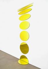 Olafur Eliasson. Welcoming ellipses, 2008.Laminated mirror(yellow), aluminium, rubber, 246.7 x 99 cm. Courtesy of theartist & PKM Trinity Gallery. © 2012 Olafur Eliasson.
