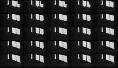 Jonas Dahlberg. Three Rooms: Three Rooms: Sequence Image Living room, 2008. Lambda prints mounted in black wooden boxes, 150 x 75 cm, Ed. of 12+2AP.