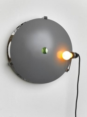 Olafur Eliasson. Your ocular pawnshop, 2011. Steel, convex mirror, concave mirror, bulb(yellow), 43.5 x 43.5 x 18 cm. edition of 6