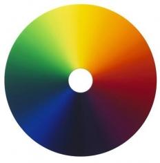 Olafur Eliasson. Emergent fade - color experiment no.48, 2012.Oil on canvas, 125 diameter. Courtesy of the artist &PKM Trinity Gallery. © 2012 Olafur Eliasson.