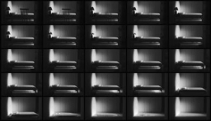 Jonas Dahlberg. Three Rooms: Three Rooms: Sequence Image Bedroom, 2008. Lambda prints mounted in black wooden boxes, 150 x 75 cm, Ed. of 12+2AP.