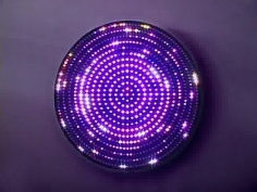 LEO VILLAREAL Dark Star  light emitting diodes, circuitry, microcontroller and anodized aluminum, 42 x 42 x 3 inches.