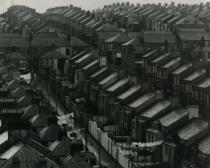 Bill Brandt - Rainswept Roofs, London, c. 1932 Ferrotyped gelatin silver print, printed c. 1950s | Bruce Silverstein Gallery
