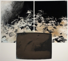 TV Landscape Series - Nuclear Explosion, 1985, 	Gelatin silver print, collage