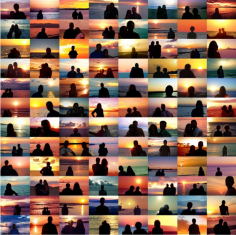 Penelope Umbrico - Sunset Portraits from 33,720,197 Sunset Pictures on Flickr on 08/07/17, 2017 Chromogenic prints | Bruce Silverstein Gallery