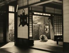 Werner Bischof - Priest, Ryoanji Temple, Kyoto, Japan, 1951 Gelatin silver exhibition print mounted to masonite | Bruce Silverstein Gallery