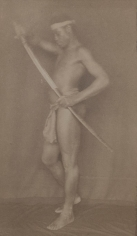 Nubia, c. 1896-1897, 	Toned platinum print mounted to card