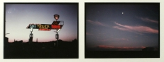 The Land/The Moon, Rio Pecos, New Mexico, 1974  Two cibachrome photographs  21 x 30 3/4 inches