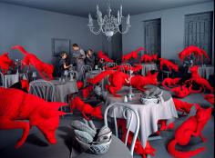 Sandy Skoglund - Fox Games, 1989 | Bruce Silverstein Gallery