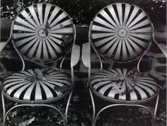Edward Weston- Garden Chairs, Autumn, 1941 Gelatin silver print mounted to board, printed c. 1941 | Bruce Silverstein Gallery