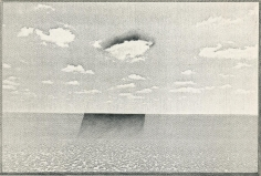 Untitled, Landscape Series, 1970, 	Xerox and graphite mounted to board
