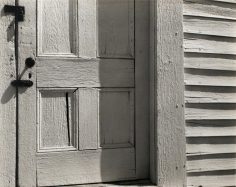 Edward Weston- Church Door, Hornitos, 1940 Gelatin silver print mounted to board | Bruce Silverstein Gallery