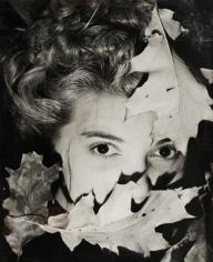 Erwin Blumenfeld - Leonor Fini (with Leaves), c. 1938 Gelatin silver print, printed c. 1938 | Bruce Silverstein Gallery