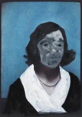 Max Neumann - Untitled, November 27, 2011 Oil on photograph   Bruce Silverstein Gallery