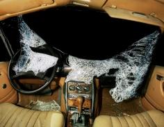 Nicolai Howalt - Car Crash Studies, Interiors #9, 2009 Chromogenic print ; Bruce Silverstein Gallery