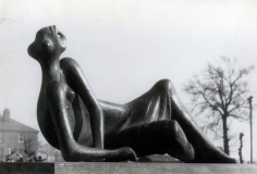 Reclining Figure #4, 1954-55, 	Gelatin silver print on carte postal, printed c. 1954-55