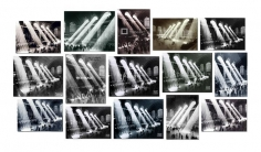 Penelope Umbrico - (Not) Easy Canvases, from Four photographs of Rays of Sunlight in Grand Central Station, Grand Central Terminal, 1903-1913, 1920, 1926, 1928, 1929, 1934, 1937, 1940, 1930-1940, 1935-1941, 1947, or 2010, by John Collier, Philip Gendreau Herbert, Edward Hulton, Kurt Hulton, Edward Lunch, Maxi, Hal Morey, Henry Silberman, Warren and Wetmore Trowbridge, Underwood & Underwood, Unknown, or Anonymous | Bruce Silverstein Gallery
