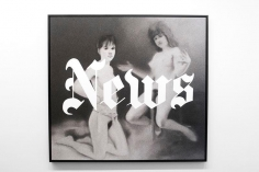News, 1970 + Osterakte, 1967, 2012, 	Archival pigment print on canvas