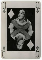 Man Ray -  Valentine Hugo as Queen of Diamonds, 1935  | Bruce Silverstein Gallery