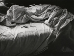 Imogen Cunningham - The Unmade Bed, 1957 Gelatin silver print mounted to board, printed c. 1957 | Bruce Silverstein Gallery