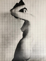 Erwin Blumenfeld - Nude Under Grid, c. 1950 Gelatin silver print, printed c. 1950 | Bruce Silverstein Gallery