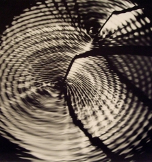 Werner Bischof - Interference Pattern on the Surface of a Pool of Mercury from Fwo Vibratory Sources, Switzerland, 1944 Gelatin silver exhibition print mounted to masonite  | Bruce Silverstein Gallery