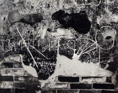 Edward Weston- Wall Scrawls, Hornitos, 1940 Gelatin silver print mounted to board, printed c. 1951-52 | Bruce Silverstein Gallery