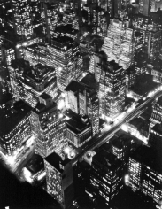 Berenice Abbott - Nightview, New York, 1932 Gelatin silver print mounted to board | Bruce Silverstein Gallery