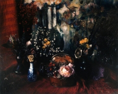 Floral with Marie Cosindas Painting, Boston, 1965, 	Dye transfer print mounted to board