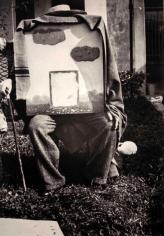 """René Magritte - Variante de la photographie connue souds les titre """"Dieu, le huitiéme jour"""" Bruxelles, Rue Esseghem,1937 ; Bruce Silverstein Gallery"""